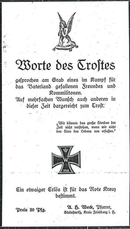 Grabrede für Friedrich Reuss