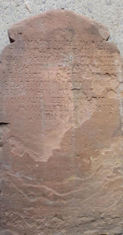 Grabstein Johann Philipp Mörler - Rückseite