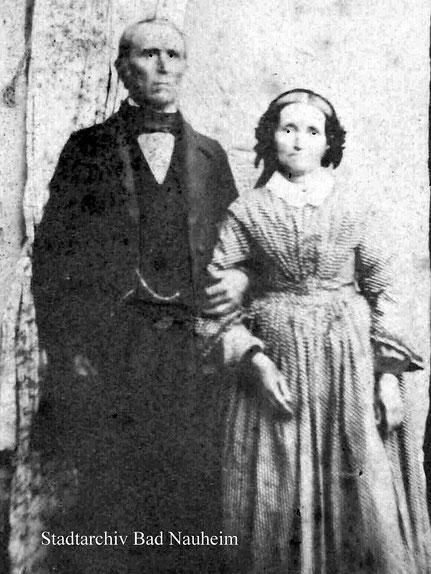 Johann Heinrich Schimpf mit seiner 2. Ehefrau Henriette geb. Böttner. Das Foto stammt aus dem Jahr 1861