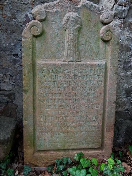 Grabstein von Johann Philipp Mörler - Vorderseite