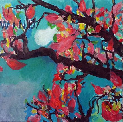 """Wind"", 2015, Acryl auf Leinwand, 40x40 cm"