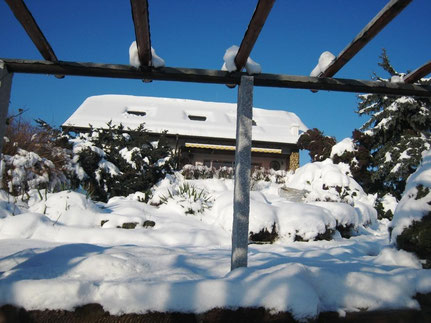 Pergola im Winter