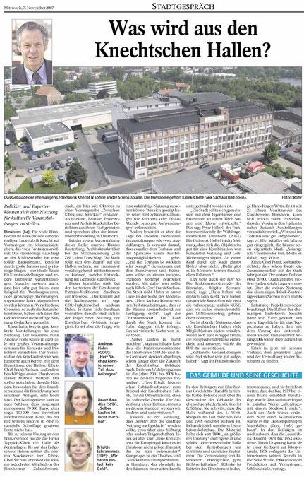 Elmshorner Nachrichten 7.11.2007