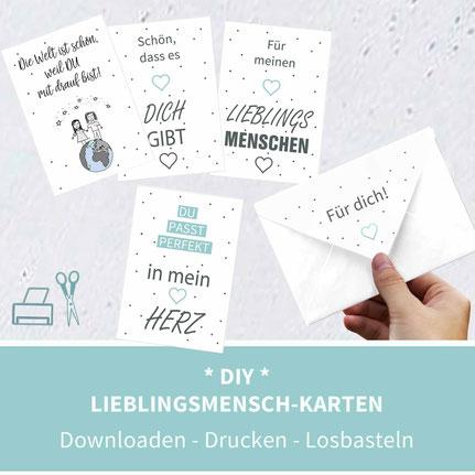 Karten basteln, Karten selber machen, Valentinstag, Freundschaft, Geburtstagswünsche, Sprüche, diy, Papier