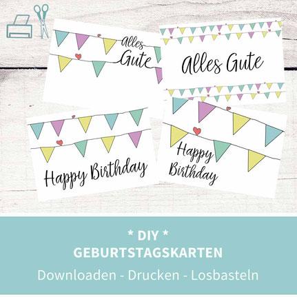 Geburtstagsgrüße, Karten basteln, Karten selber machen, Geburtstag, Geburtstagswünsche, Sprüche, Freundschaft, diy, Papier