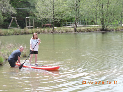 Initiation paddle en camping Lot