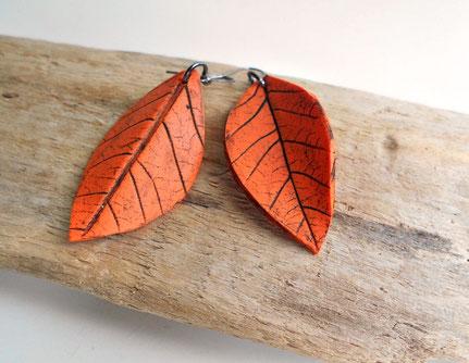 Boucles d'oreille feuilles - Cliquez sur la photo pour en savoir plus