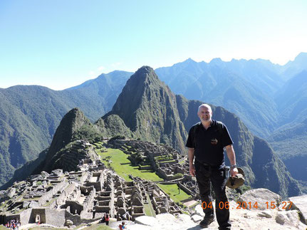 Barry at Machu Picchu