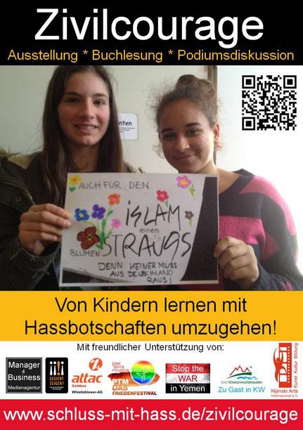 Königs Wusterhausen am 11.11.2017 - Wanderausstellung zu Zivilcourage Von Kindern lernen mit Hassbotschaften umzugehen!