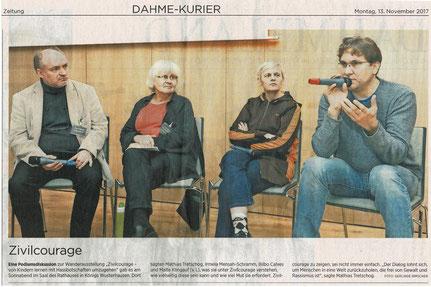 13.11.2017 - Märkische Allgemeine - Dahme-Kurier