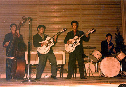 The Four Tielman Brothers on stage (Haagsche Dierentuin - Zoo, The Hague ca.1957/1958)