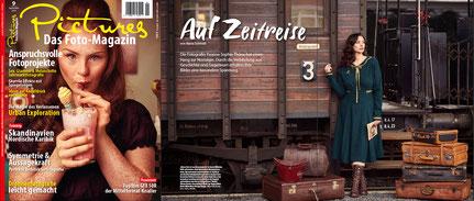 Veröffentlichung Fotostrecke im Pictures Fotomagazin mit Cover mit Model Tamara Röske von Yvonne Sophie Thöne aus Kassel
