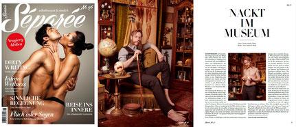 Männerakt Fotostrecke im Magazin Séparée