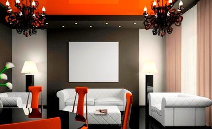 weiße Infrarotheizplatte in Cafe Lounge
