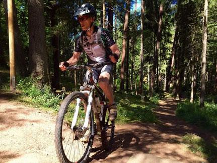 Mountainbiker des SV Lemberg im Pfälzerwald