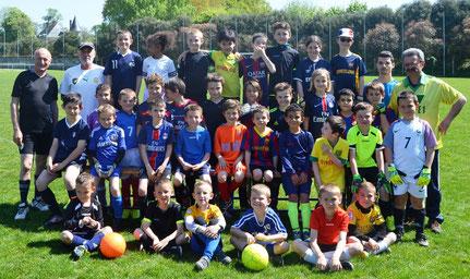 Les U8/U9 du FCBR lors d'une journée foot en 2016