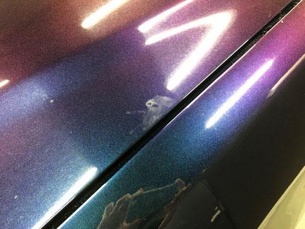 車の塗装ポリッシュ前