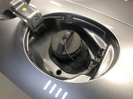 車の給油口の洗浄クレンジング