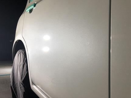 車の塗装面の研磨後