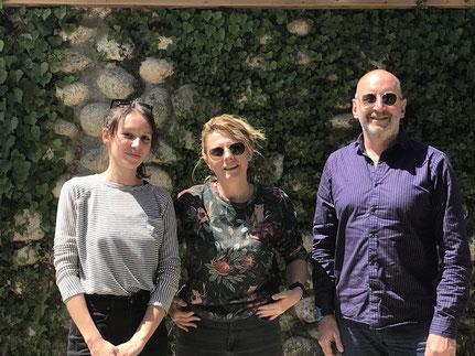 L'équipe d'Eurodoc: Solène Moreau, Maria Bonsanti et Alexandre Cornu