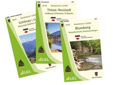 Neue Wanderkarten des Schwarzwaldvereins