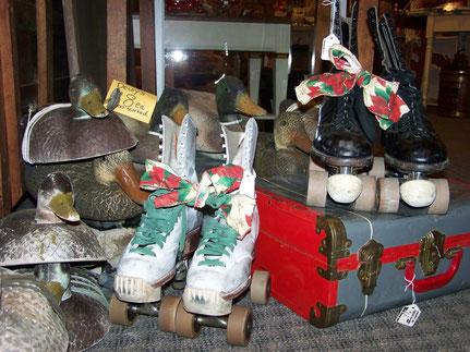 Vintage Roller Skates, Duck Decoys.
