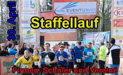 NEU: Der Genthiner Staffellauf für Firmen, Schüler und Vereine startet am 30. April auf dem Genthiner Marktplatz.
