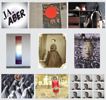 Fotos/Werke (oben li nach unten re): Lotte Effinger - Marcia Székely - Elke Hennen, Philipp Gufler - Jakob Gautel - Jutta Hieret, Renate Schweizer - Ines Wuttke - Beate Körner