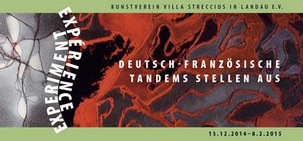 Artandem-Projekt, Einladungskarte Ausstellung Experiment - Expérience in der Villa Streccius Landau