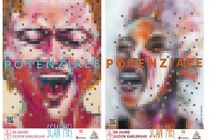Gloria Keller, Iris Kamlah, Plakate Kunstwerk POTENZIALE