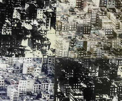 """Melanie Beger, """"Komplexität"""" 2019, 20 x 30 cm, Fotocollage"""