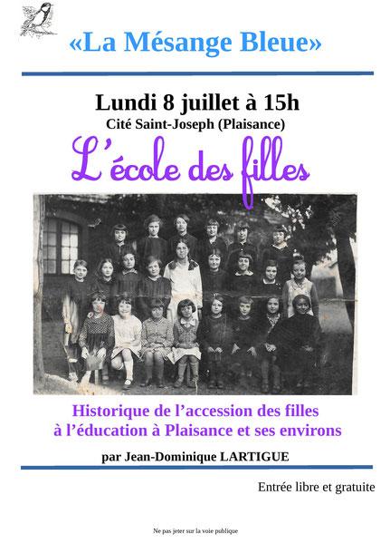 Conférence Ecole des Filles Jean-Dominique Lartigue Mésange bleue Cité Saint-Joseph