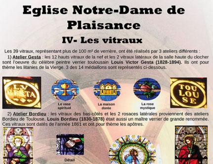 Jean-Dominique Lartigue Exposition journées du patrimoine église de Plaisance Gers vitraux Gesta Bordieu Goussard