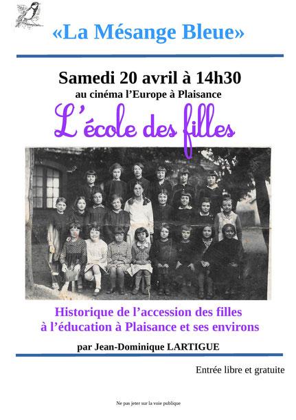Conférence Ecole des Filles Jean-Dominique Lartigue Mésange bleue