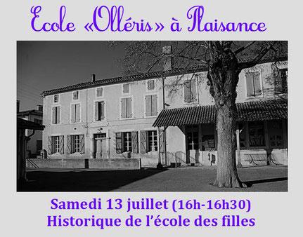 Historique école Olléris Jean-Dominique Lartigue Plaisance