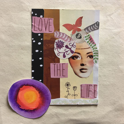 Love the Life - Papercollage