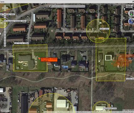 Zonenüberwachung GPS Tracking Geofencing