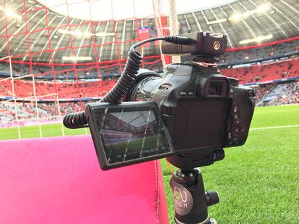 Die Remotekamera hinterm Tor.