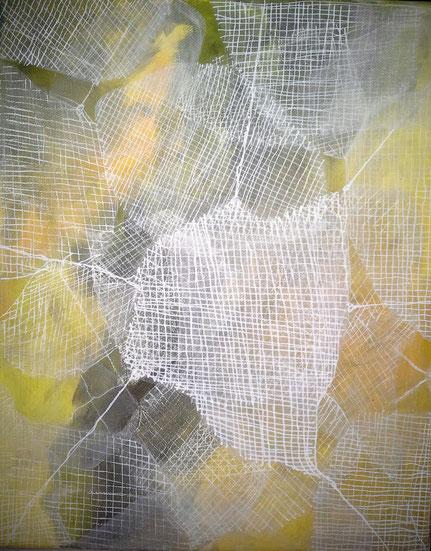 Layered : acrylverf,  en acrylstiften-20 bij 30 cm.