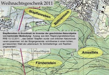 Die Stapflenreben werden durch RRB zum kantonalen Naturschutzgebiet