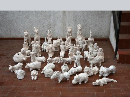 """Artefakte (Mesopotamien, Ägypten), 2015, Ausstellung """"ARTgerecht"""" - Artefakte aus dem Irak, Syrien und Ägypten, Flehingen 2015 (Foto: AM)"""