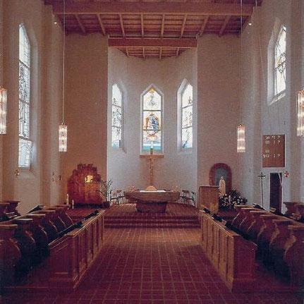 Sostrup-Klosterkirke, Innenansicht 1992