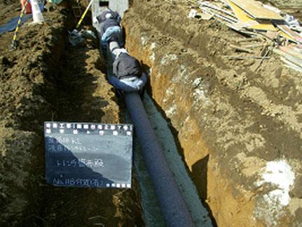 有孔管の敷設状況