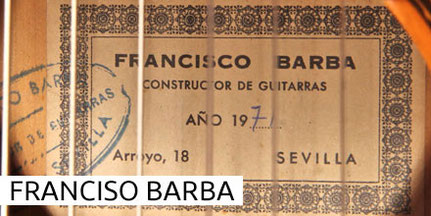FRANCISCO BARBA - GUITAR - GITARRE - GUITARRA