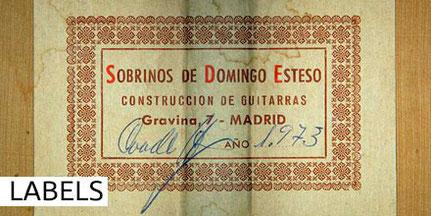 HERMANOS CONDE - SOBRINOS DE DOMINGO ESTESO - LABEL - ETIKETTEN - ETIQUETA