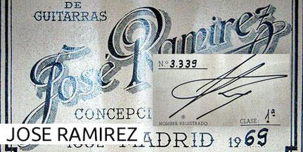 Jose Ramirez Guitars Museum Archive Gitarre