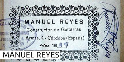 Manuel Reyes - Guitars - Gitarren 1960 - 2019