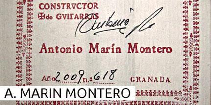 Antonio Marin Montero Guitars Museum Archive Gitarre