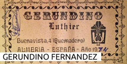 Gerundino Fernandez Guitars Museum Archive Gitarre