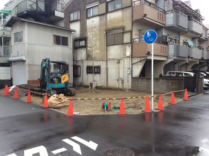 建物解体後の整地工事